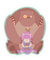 Annie and Tibbers by KindaCreative