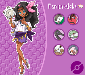 Disney Pokemon trainer : Esmeralda by Pavlover