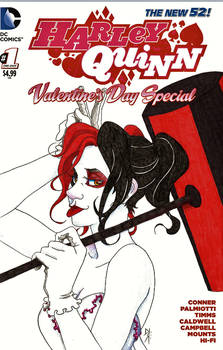 Blank Variant: Harley Quinn Valentines Day Special by ohhhdis