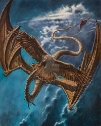 Eagle Attacks Dragon at the War of Wrath by KipRasmussen