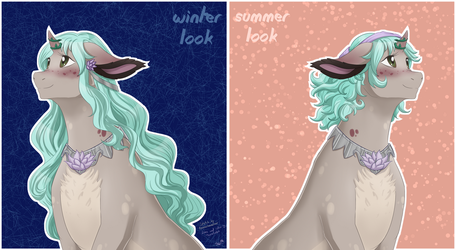Winter and Summer look by Aurialudzic