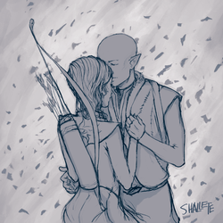 Solas and Lavellan by shallete