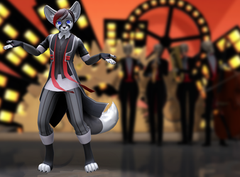 Skeleton Orchestra and Reno by meowbait