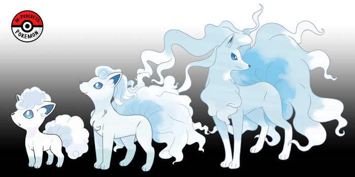 037A - 038A Alolan Vulpix Line by InProgressPokemon
