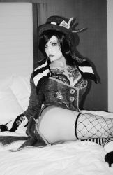 Black and White Moxxi by UndercoverEnvy
