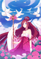 |YCH| Angel of the garden| ych completed by Hoshihana-uchiha