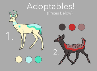 OTA Deer Adoptables (Batch 1) | SOLD by CarelessCuriosity