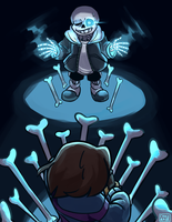 in which frisk gets DUNKED ON by Karin-Sawada