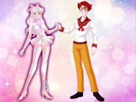 Foxy And Mangle Sailor Moon! by Yandere-ChanKawaii13