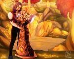 COMMISSION: Happy Family in World of Warcraft by aoyumeart