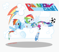 Rainbow Dash Pony and Eg by Arteses-Canvas