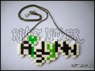 8-Bit Name Necklace - Aislynn by angeleyezxtc