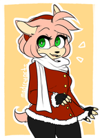 Amy Rose Warm Clothes by madreyarts