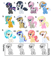 MLP Shipped Adoptable Fillies - Sheet 4 - CLOSED by iPandacakes