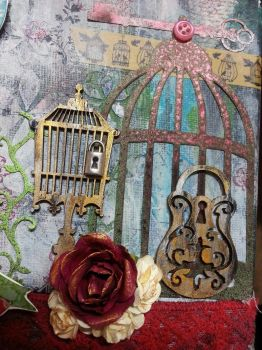 Michelle Canvas Cage detail by Roxie5526