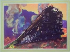 Otto Kuhler Railroad Art - U.P. 9000 by PRR8157