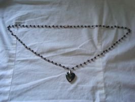 Hematite necklace by TeganIrish