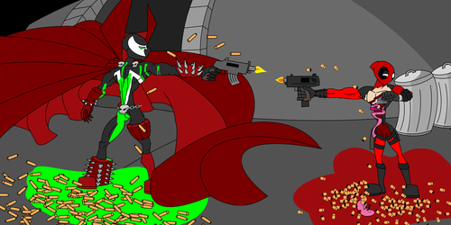 Deadpool vs Spawn by YeagleJeff