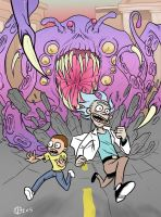 Morty and Rick by mattblack