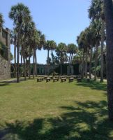 Atalaya Castle Courtyard 12 Stock by DLR-Designs
