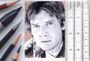 Han Solo sketchcard by whu-wei