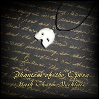Phantom of the Opera Mask Charm Necklace by YellerCrakka