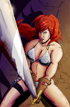Red Sonja Cover Contest by LucasDuimstra