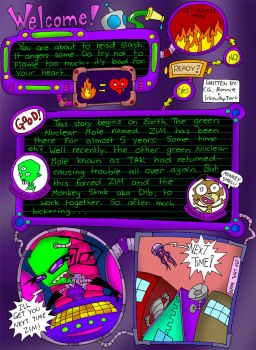 ZADR comic Page One by cgaussie