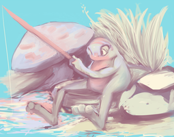 Fisherfrog by jelllybears