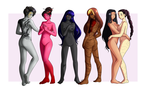 Commission: female characters by selene-bunny