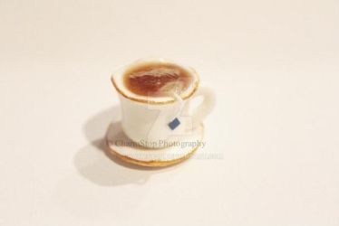 Polymer Clay Miniature Cuppa Charm by CharmStop