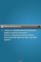 Desire NotificationCenter theme v1.1 by KillingTheEngine
