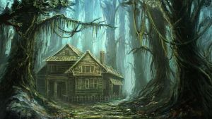 house in forest by mrainbowwj