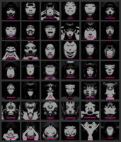 Monster's Mood Faces by killabee