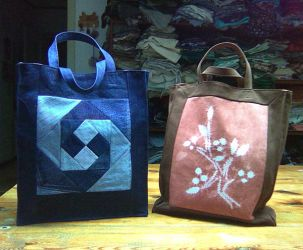 two simple shopping bags by Fabric-ant
