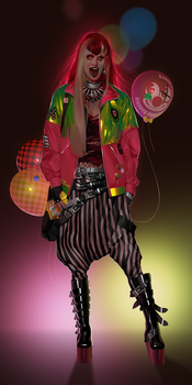 Charlie the Clown Punk by AshKerins