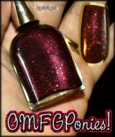 OMFGPonies- custom nail polish by mslaynie