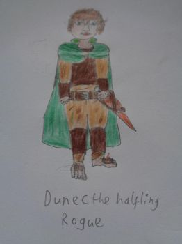Dunec the Halfling Rogue by woodywoodwood