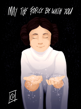 Carrie Fisher Tribute by copperdragons