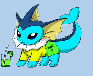 My Vaporeon form by Darkgatomon12