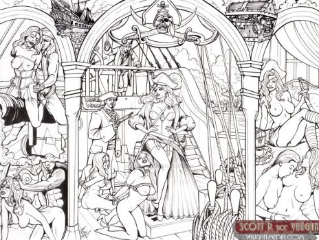 Pirates Of the Caribbean - Red's Auction 03 -Lines by DocRedfield