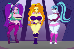 Commission - Same Body Type Dazzlings by BimboAnnon