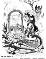 INKtober 2015 and Drawlloween Day 16. Grave by AxelMedellin