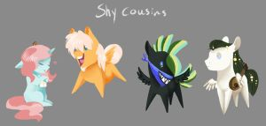 Shy cousins by Vindhov