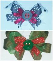 Drax Movie Vs Drax Comic Hair Clips MADE TO ORDER by wolf-girl87