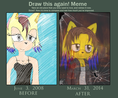 Draw this again meme-Behind the glass by lizathehedgehog