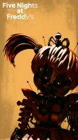 FNAF 6 Scrap Baby wallpaper 2 by GareBearArt1