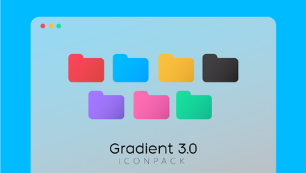 Gradient Folder Icons 3.0 by MunaNazzal