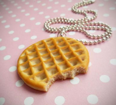 Stranger Things Eleven's Eggo Waffle Polymer Clay by ScrumptiousDoodle