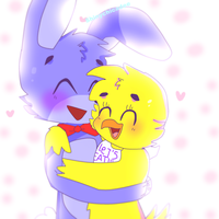 .:Fnaf Bonnica:. Lovable Cuties by Shinychicadee